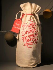 Drink Drink reusable bottle bag £8.  Fully customisable.