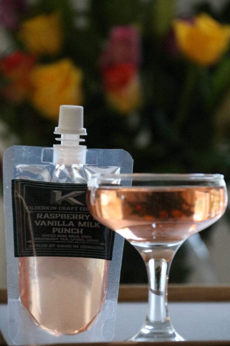 Raspberry & Vanilla Milk Punch